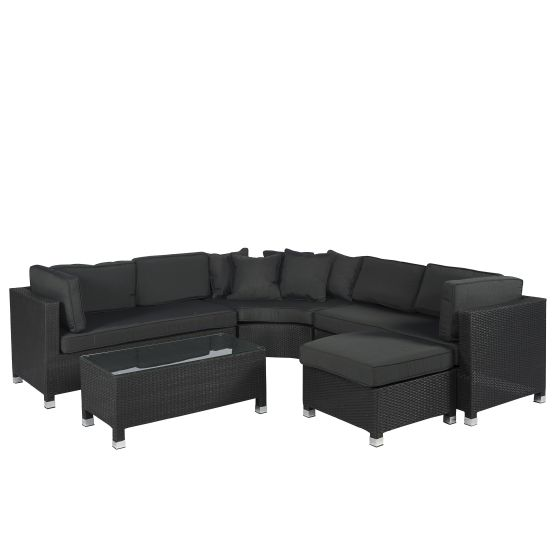 Garten-Lounge-Polyrattan-Loungeecke-Ecksofa-