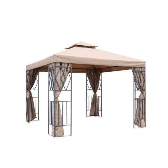 Borneo-Gartenpavillon-3x3-Beige-Pure-Garden-&-Living