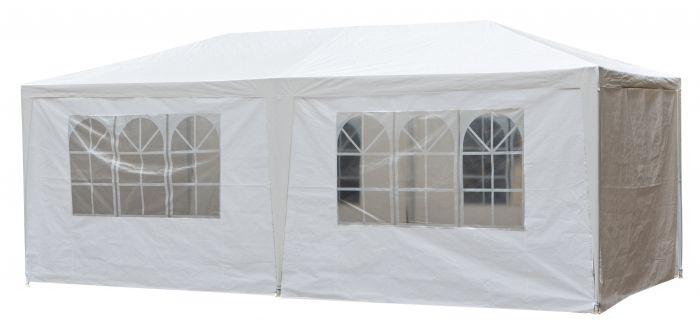 Partyzelt-3x6m-PE-120-gr/m2-weiß