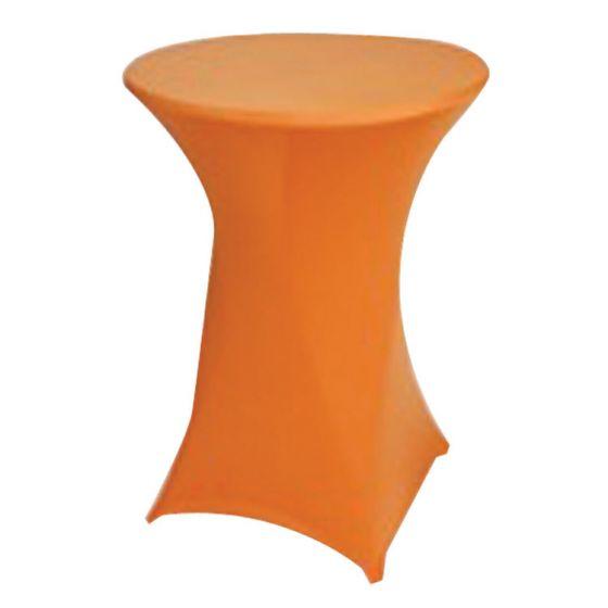 Stehtischhusse-Orangefarben