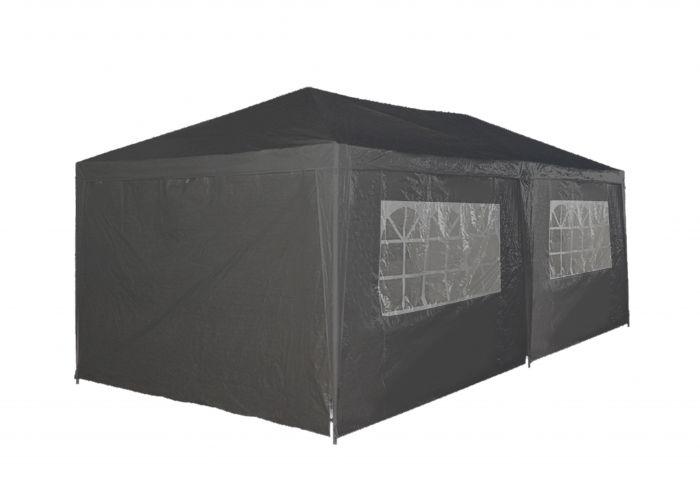 Partyzelt-3x6m-PE-120-gr/m2-grau