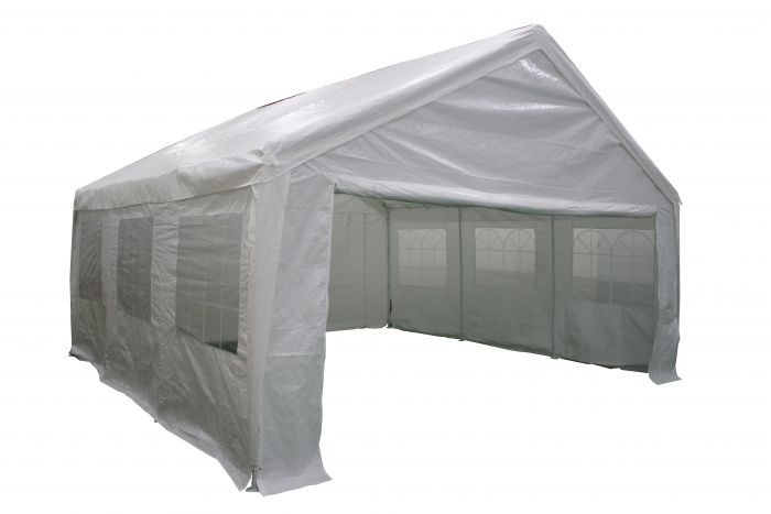 Partyzelt-5x5m-PE-140-gr/m2-weiß