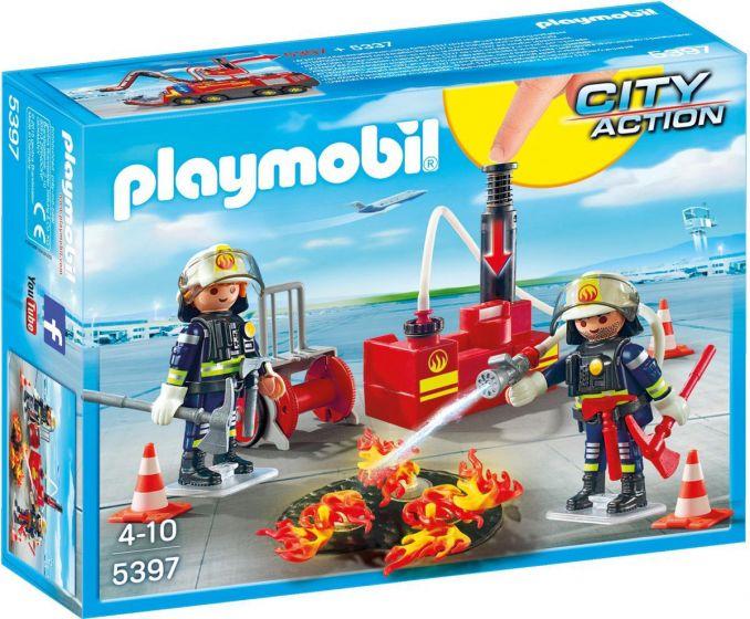 Playmobil-Feuerwehrleute-mit-Löschmaterial---5397