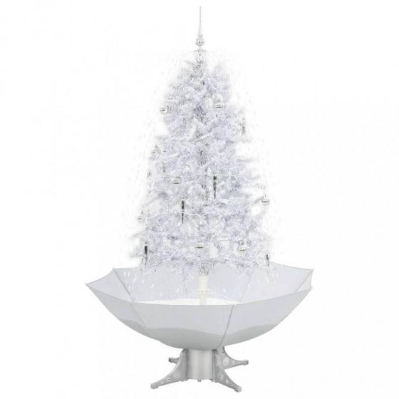Schneiender-Weihnachtsbaum-Weiß/Silber