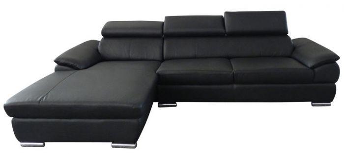 Eckcouch-Kingston-links-Black-Bonded-Leder