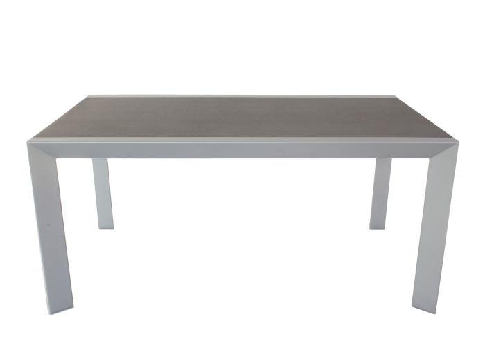 Gartentisch-Grau/Anthrazit-160x90-cm