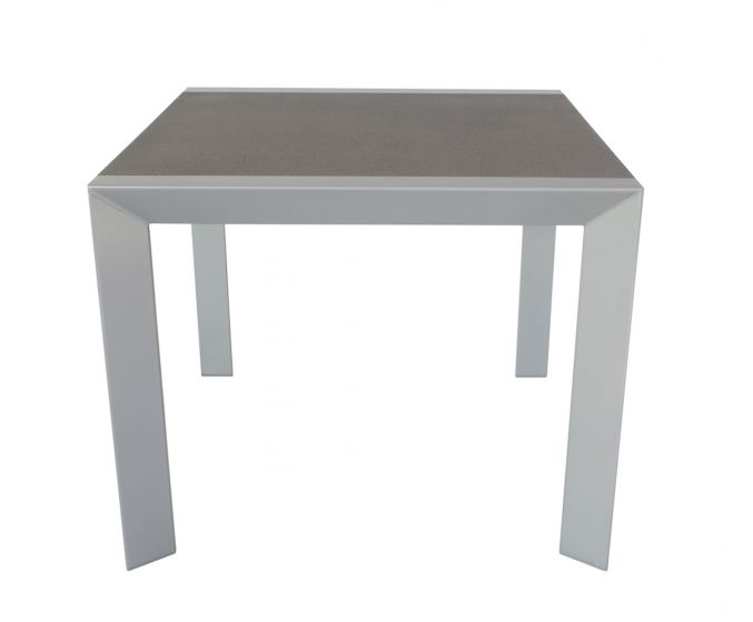 Gartentisch-Silber/Schwarz-90x90-cm