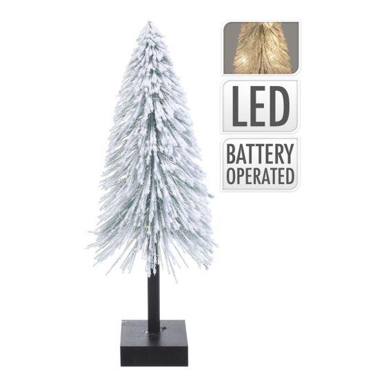 Weihnachtsbaum-mit-Schnee-und-LED-40cm