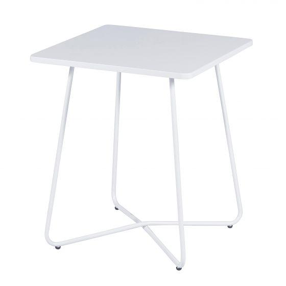 Tisch-Metall-matt-Weiß