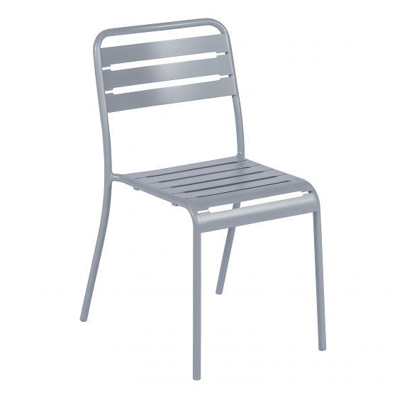 Stapelstuhl-Stahl-Grau
