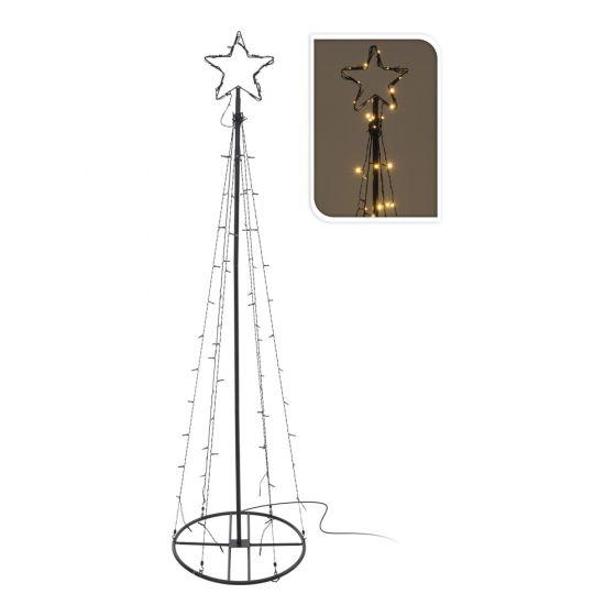 Turm-mit-Stern-70-LED-Lämpchen-120cm
