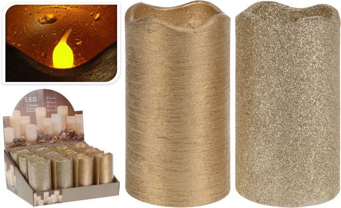 Kerze-LED-Timer-7x13-cm-gold