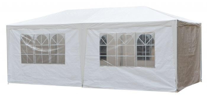 Partyzelt-3x6m-PE-100-gr/m2-Basic-weiß