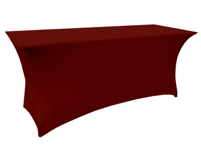 Buffettischhusse-Bordeaux-Rot-180x76x74