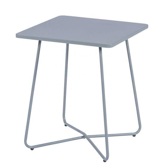Tisch-Metall-matt-Hellgrau
