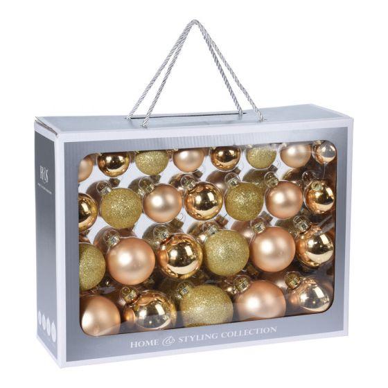 Weihnachtsbaumkugeln-Set-52-Stück-Gold
