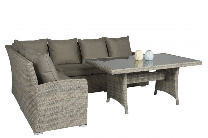 Dining-Loungesel-Polyrattan-