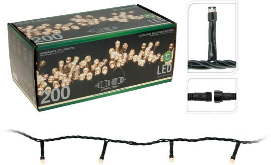 Standard-Lichterkette-Start-200Led-Warmweiß-230v