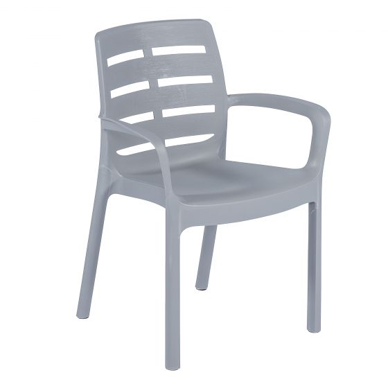Stuhl-Bistro-Grau