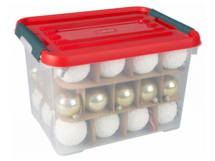 Curver-Weihnachten-Aufbewahrungsbox-20-Liter-mit-Zwischenkarton