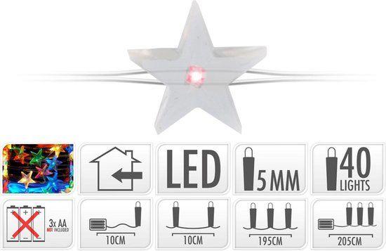 Silberdraht-mit-Stern-Beleuchtung