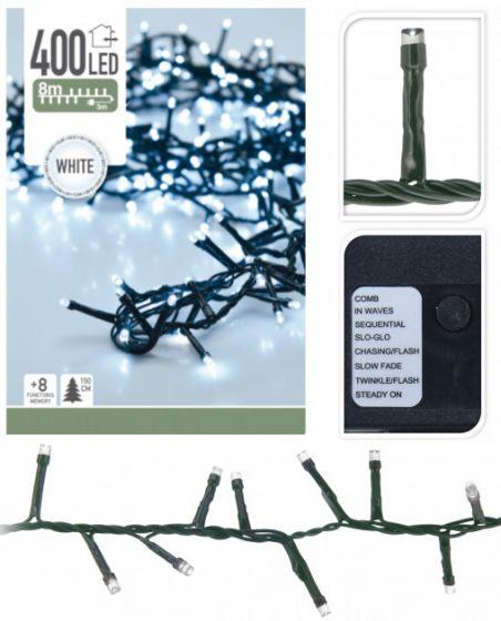 LED-Lichterkette-Weihnachtsbaum-400-LEDs-8-Meter-Weiß