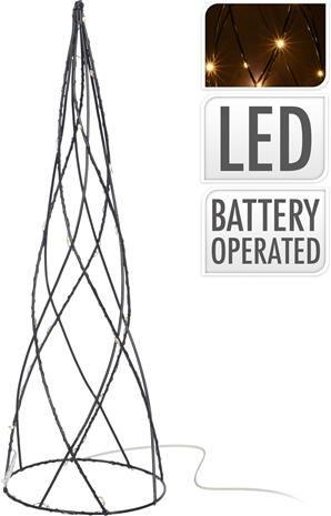 Pyramide-Metall-LED-40-cm