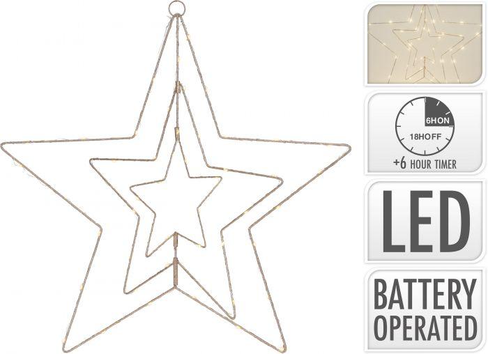 Stern-golden-50-LED-60-cm