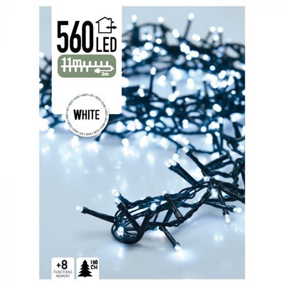 Lichterkette-Weihnachtsbaum-560-LED's-11-Meter-Weiß