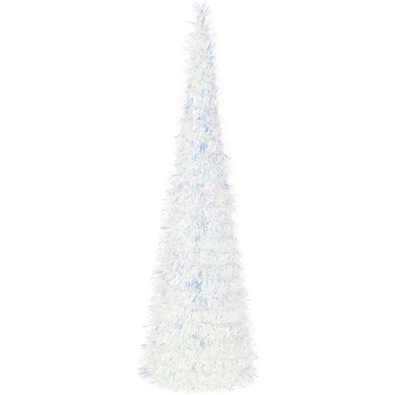 Weiße-Weihnachtsbaumdekoration-mit-LEDs-–-batteriebetrieben