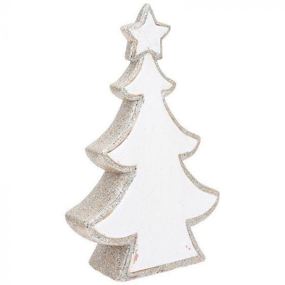 Weihnachtsbaum-Glitzer-42cm-Silber