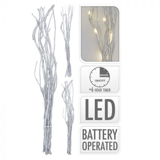 Bündel-Zweige-silber-12-LED-40-cm