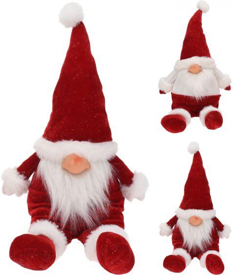 Zittende-Pluche-Gnome-Kerstman