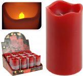 Kerze-LED-Timer-7x13-cm-rot
