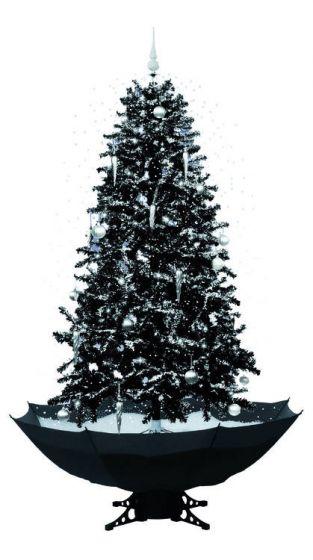 Schwarzer Weihnachtsbaum.Schneiender Weihnachtsbaum Schwarz 170cm