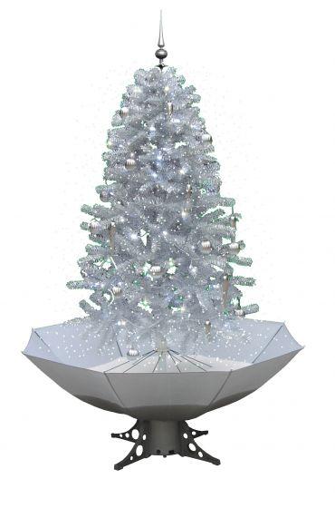 Schneiender-Weihnachtsbaum-Weiß/Silber-170cm