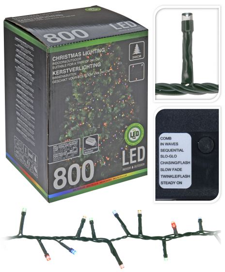 Cluster-Beleuchtung-800-LED-Multi---16-Meter
