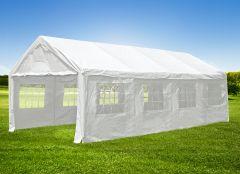 Partyzelt-4x8m-PE-140-g/m2-weiß