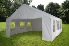 Partyzelt-5x5m-PE-160-gr/m2-weiß