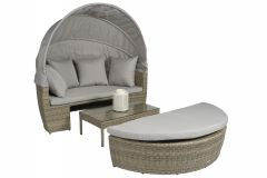 "Loungebett-Sonneninsel-Poly-Rattan-""Santorini""---Naturel-Taupe---Pure-Garden-&-Living"