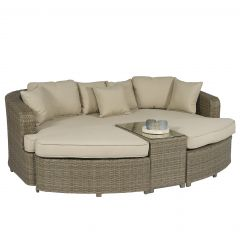Palma-Lounge-Sonneninsel-Polyrattan---Naturel---Pure-Garden-&-Living