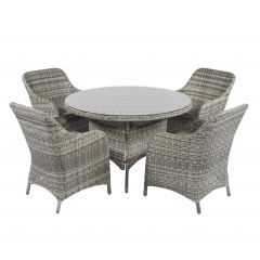 "Dining Loungeset Polyrattan ""Miami"" - Cappucino Naturel - Pure Garden & Living"