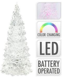 Weihnachtsbaum Acryl Bunt LED 17 cm