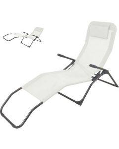 Siesta Liegestuhl Grau/Schwarz – Textilen