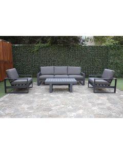"""Garten Sitzgruppe Lounge Set """"Quatar"""" – Grau"""
