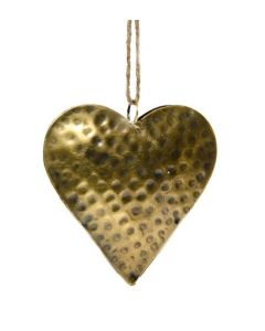 Herz Gold Hängedeko 10 cm