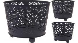 Feuerstelle schwarz 39 x 32 cm 2 Designs