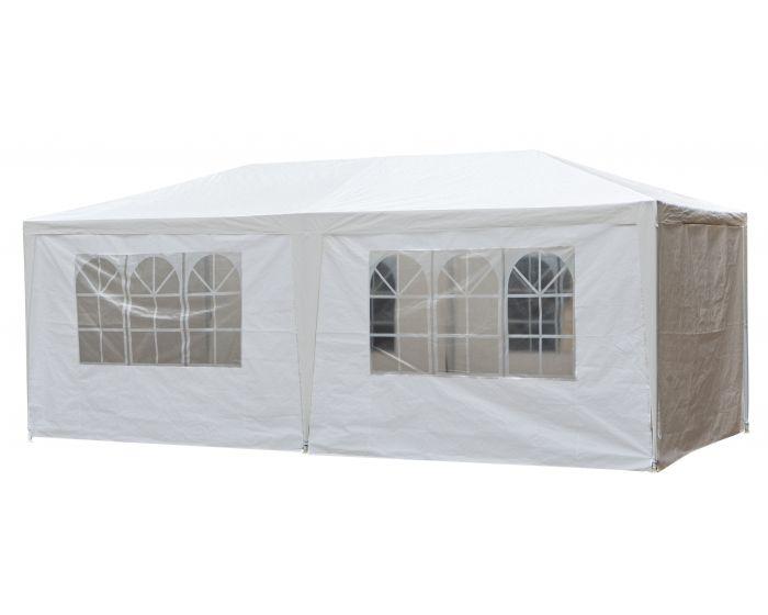 Partyzelt 3x6 m weiß mit Seitenwänden Pure Garden & Living