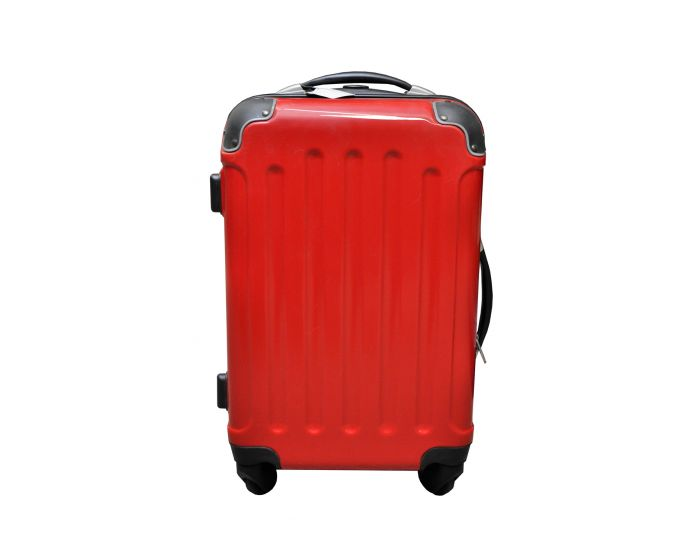 Koffer Hochglanz rot 40 Liter