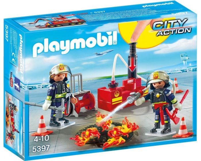 Playmobil Feuerwehrleute mit Löschmaterial - 5397